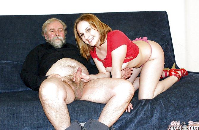 Порно внучка ебется с дедом