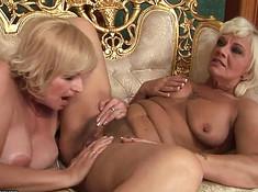 Две старые лесбиянки пригласили молодую девку
