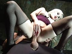 Госпожа отдается в задницу приятному рабу
